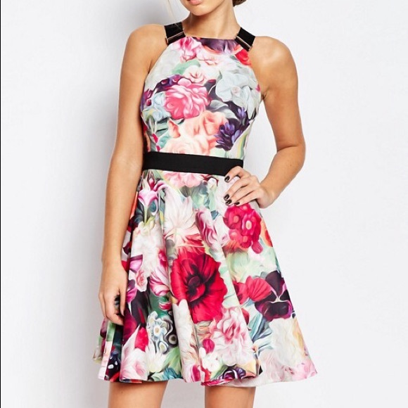 3c14a5e464603 Ted Baker  Samra  Floral Swirl Dress 8. M 5bdbcdd0df0307d91b9442cd